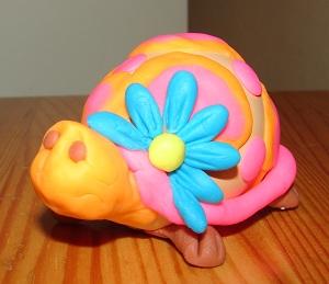 черепаха из яичной скорлупы