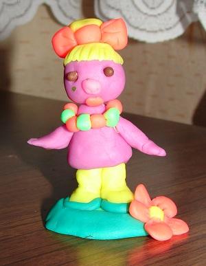 поделки из пластилина - девочка