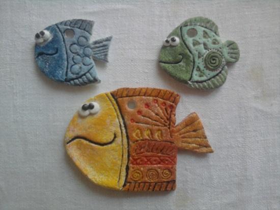 рыбы из соленого теста