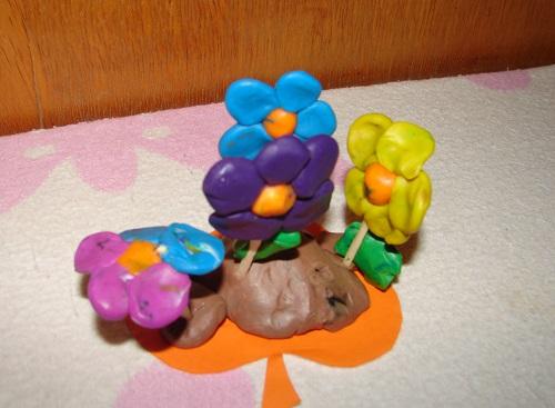 пластилиновые цветы