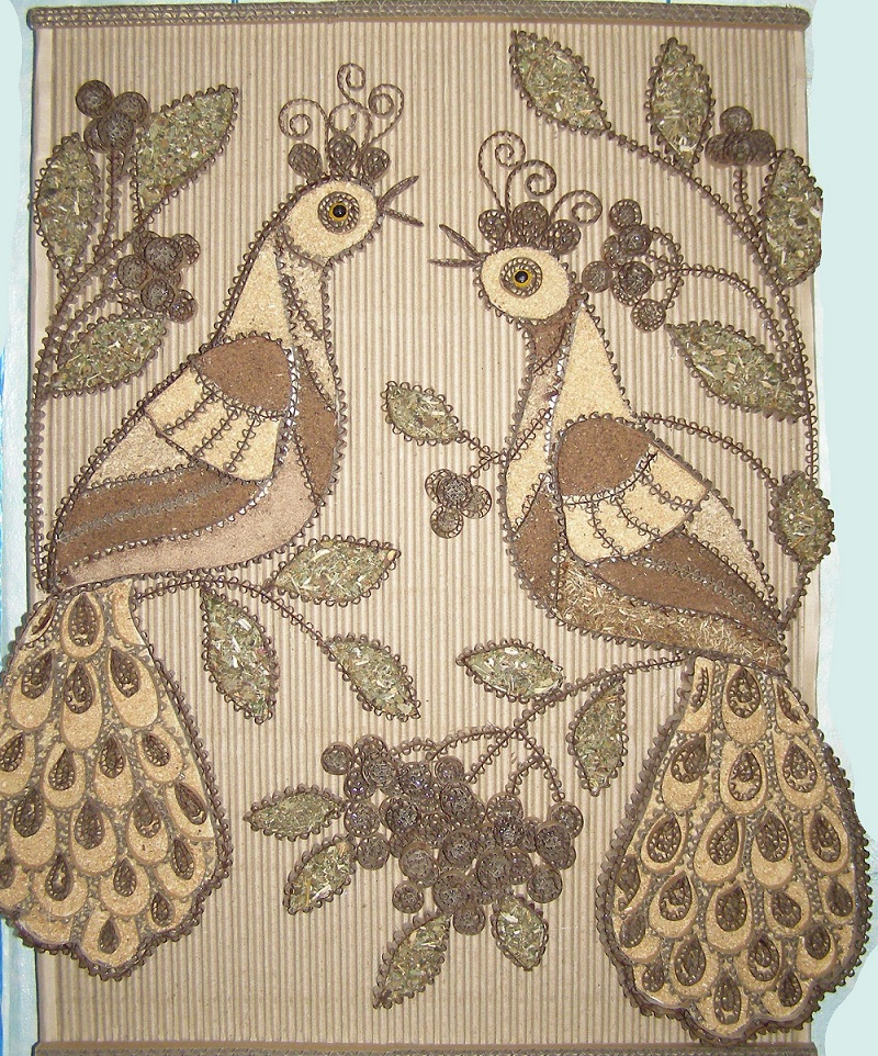 птицы из картона