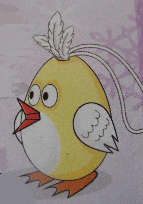 цыпленок из яичной скорлупы