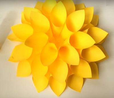 фото готового цветка из бумаги