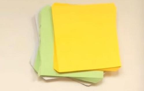 цветные бумажные блоки
