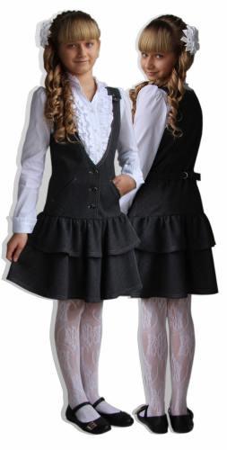 двойняшки в школьной форме