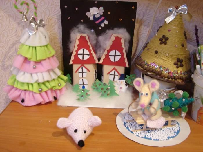 Новогодние пделки к году Крысы (мыши)